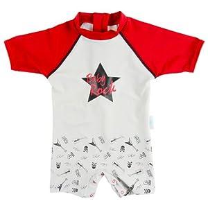 ELLY LA FRIPOUILLE - BABY ROCK - Baby- / Kleinkinder-Badebekleidung Einteiler mit UV-Schutz 50+ und Oeko-Tex 100 Zertifizierung (6 to 12 months)