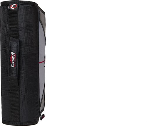 Case-it Mighty Zip Tab 3-Inch Zipper Binder, Black, D-146