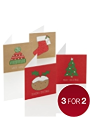 24 Festive Icons Christmas Multipack of Cards