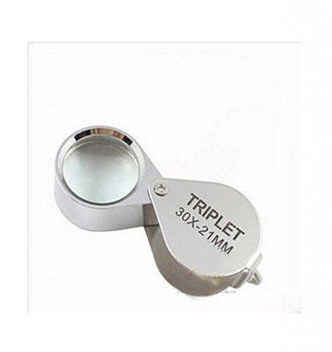 Folding Portable Magnifying Glass To Read The Elderly Surgical Repair 30X Magnifier With Led Light Hd