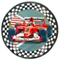 Race Fans Open Wheel Indy Car Birthday Party Plates - 16 Count