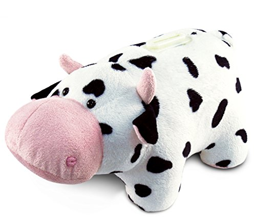 Puzzled Plush Cow Huggie Bank