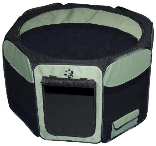 Pet Gear Travel Lite Octagon Pet Pen With Removable Top For Cat And Dog Up To 90-Pound, 46-Inch, Sage front-1042149