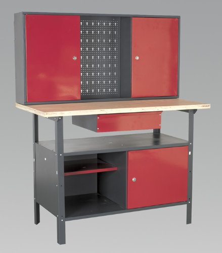Sealey - Workstation 1.2Mtr With Drawer & Cupboard