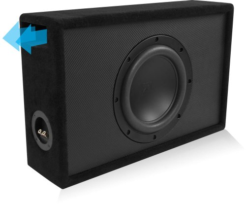 Nvx Xqt10D4 Preloaded Nvx X-Series Shallow Mount Subwoofer In Shallow Ported Truck Box