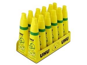 Saunders UHU Twist and Glue, 3.2 fl oz., Clear, Pack of 12 (21150)