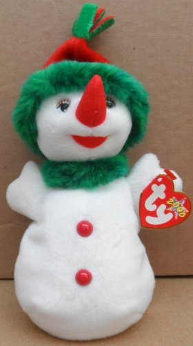 TY Beanie Babies Snowgirl Plush Toy Stuffed Animal - 1