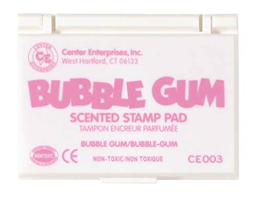 Center Enterprise CE003 Bubble Gum Scented  Stamp Pad, Pink