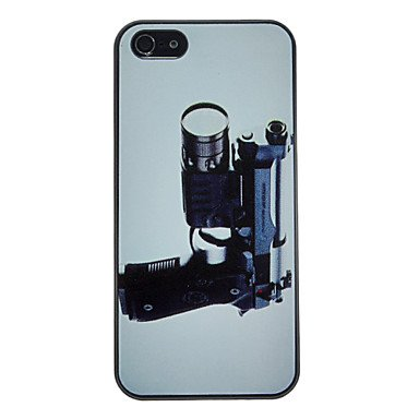 Gun With Telescope Pattern Anti-Scratch Matte Pc Hard Case For Iphone 5/5S