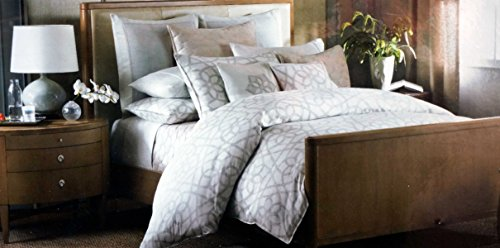 Barbara Barry King Duvet Cover Gray And Beige Lines On Cream Sanctuary Scroll front-1057293