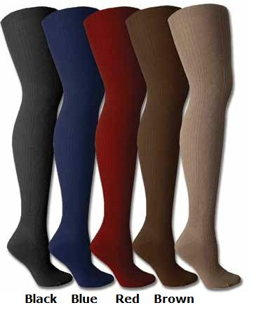 Womens Ribbed with Argyle Premium Sweater Tights - Colors Available