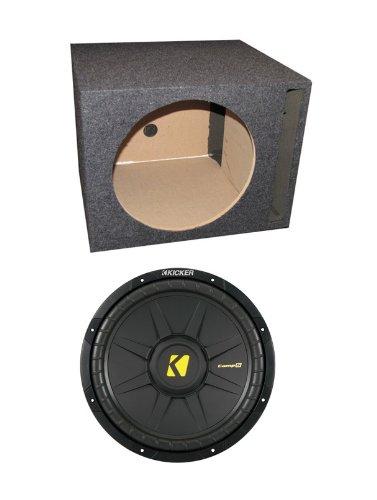 "Kicker Comps 40Cws122 12"" 600W Car Subwoofer + Single Vented Sub Box Enclosure"
