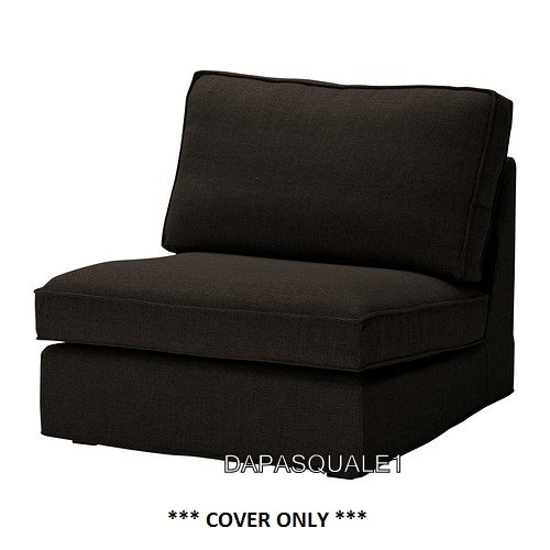ikea kivik slipcover for one seat section teno black cover only. Black Bedroom Furniture Sets. Home Design Ideas