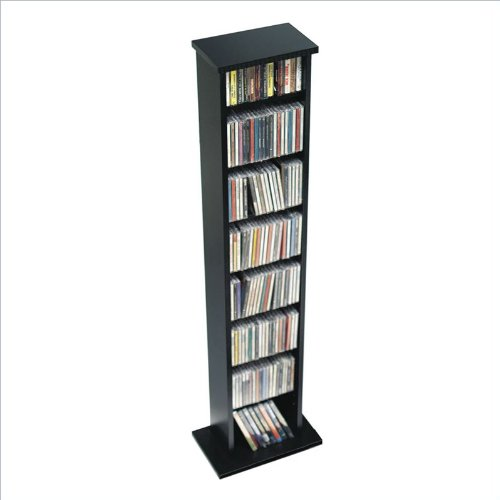 Prepac BMA-0160 Black Slim Multimedia Storage Tower
