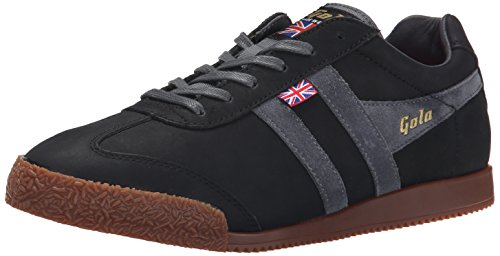 Gola Men's Harrier 72 Fashion Sneaker, Black/Graphite, 10 M US