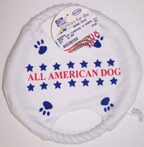 CANVAS N'ROPE DISC DOG TOY