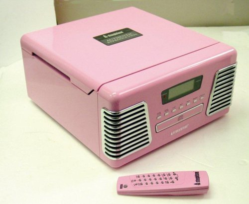 RX-2 MUSIC SYSTEM/RETRO RECORD & CD PLAYER/PINK ROXY 60