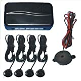 MATT BLACK Rear Car Parking Reversing with 4 Sensor Buzzer Mini box Kit