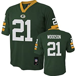 Charles Woodson NFL Youth Jersey: Home Green #21 Green Bay Packers Jersey by NFL