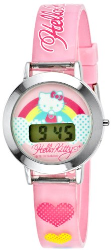 Hello Kitty Kids' HK1052T LCD Watch Set