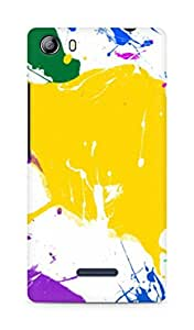 Amez designer printed 3d premium high quality back case cover for Micromax Canvas 5 (E481) (Paint Splatter Colorful)