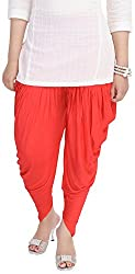 Soundarya Women's Cotton Lycra Harem Pants (Red)