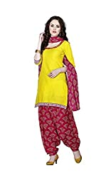 Minu Suits Cotton Unstiched Dress Material New Yellow