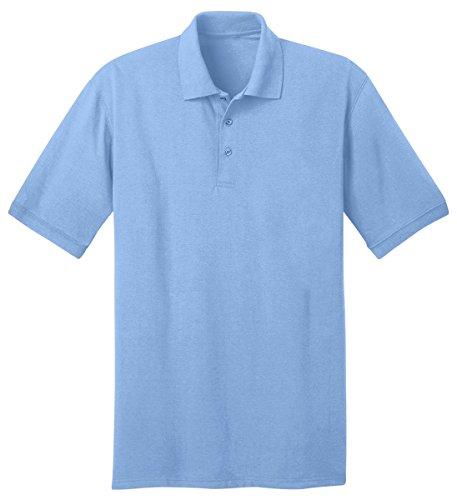 Port & Company Tall 5.5-Ounce Jersey Knit Polo>4XLT Aquatic Blue KP55T Jersey Vintage Polo Shirt