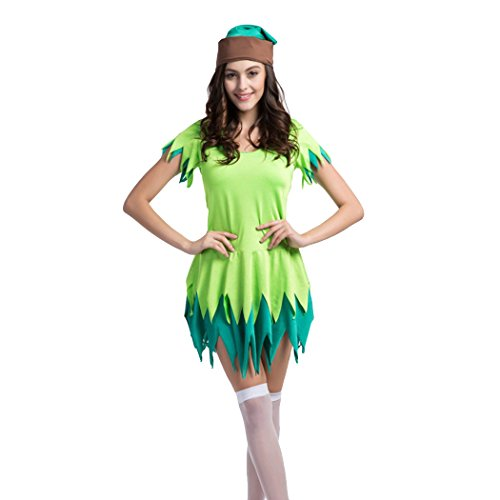 Ladies Sexy Peter Pan Robin Hood Halloween Fancy Dress Costume