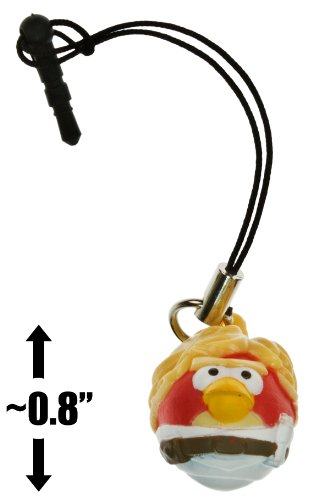 "Luke Skywalker Bird ~0.8"" Angry Birds Star Wars Mini-Figure Phone Dangler Series #1"