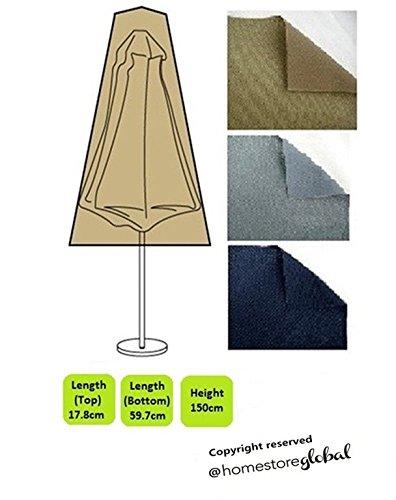 HomeStore Global, Schutzhülle für Sonnenschirm, Dicke und langlebig hochwertige 600D Polyester Segeltuch, All-wetterfest und gegen Feuchtigkeit, Größe ca.: 17,8 oben, unten 59,7 x 150 cm (H), braun jetzt kaufen