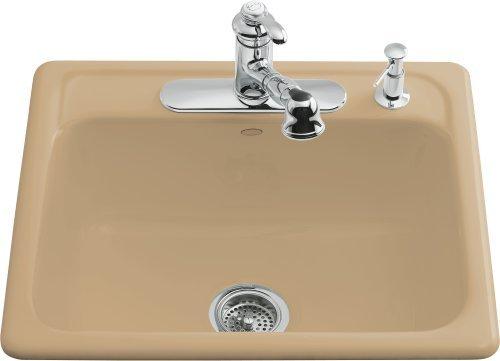 Kohler K 5964 4 RR Ember Mayfield Single Basin Cast Iron Kitchen Sink