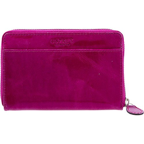 Womens Osprey London Purple Leather Purse Ladies