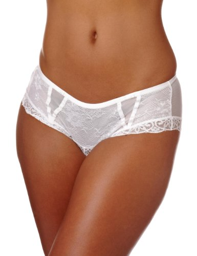 Wonderbra Chic Lace Bra Coordinating Shortie Women's Knickers White Medium