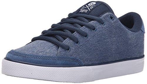 C1RCA Men's AL50 Skate Shoe, Dark Denim/White, 10.5 M US