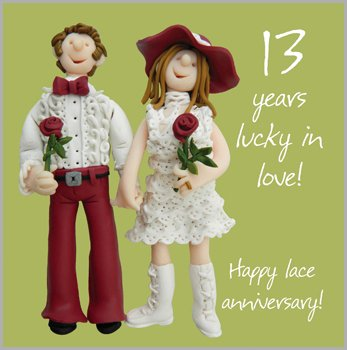 13th Wedding Anniversary Gift For Husband : 13th Wedding Anniversary Card at Shop Ireland