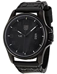 Luminox 1870-Series Quartz Black Calfskin Band Black Dial Men's Watch - 1879.BO
