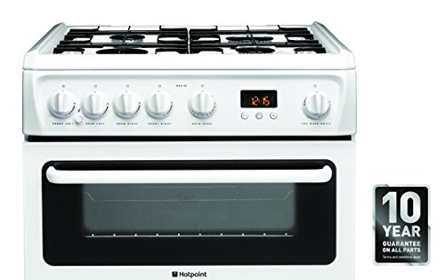 Hotpoint HAG60P Double Oven Cooker - White