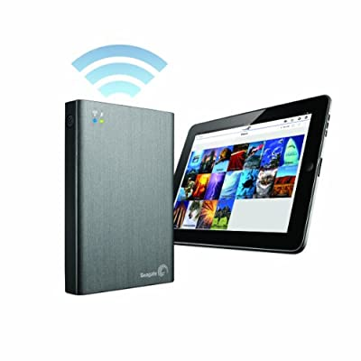 Seagate Wireless Plus 500GB Portable Hard Drive with Built-in WiFi (STCV500100)