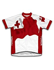 Tonga Flag Short Sleeve Cycling Jersey for Women