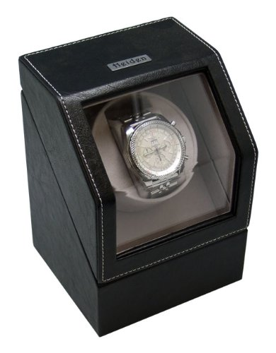 Heiden Battery Powered Single Watch Winder - Black Leather