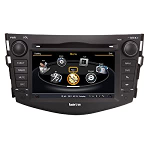 Koolertron For 2006 2007 2008 2009 2010 2011 Toyota RAV4 Indash 7 inch Digital HD Touch Screen DVD GPS Navigation System Car Radio Multimedia System with FM USB RDS Bluetooth iPod (OEM Factory Style,Free Map)