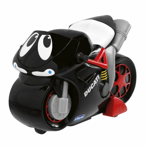 Chicco 00388 Moto Ducati Turbo Touch Ducati Nera, Motocicletta Elettronica Premi e Vai