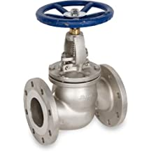 Sharpe Valves 45116 Series Stainless Steel 316 Globe Valve, Bolted Bonnet, Inline, Hand Wheel, Flanged