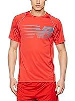 ZZZ-New Balance Camiseta Manga Corta (Rojo)