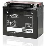 SUPER NATTO / STX20L-BS (YTX20L-BS YTX20HL-BS GTX20L-BS互換) バイク用バッテリー 密閉型MF( ロイヤルスター ゴールドウィング VTX) 20L-BS