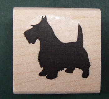 P5 Scottie dog silhouette rubber stamp WM