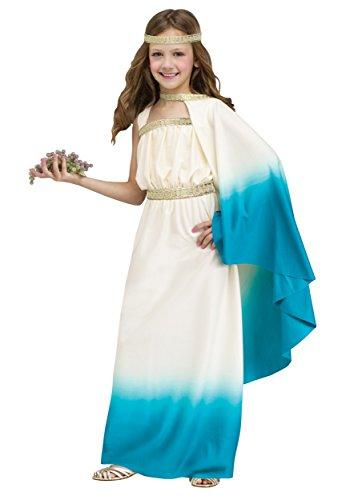 [Big Girls' Blue Goddess Costume Large (12-14)] (Greek Costumes For Girls)