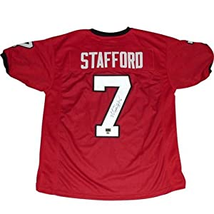 Matt Stafford Autographed Georgia Bulldogs (Red #7) Jersey - MS9 Holo by PalmBeachAutographs.com