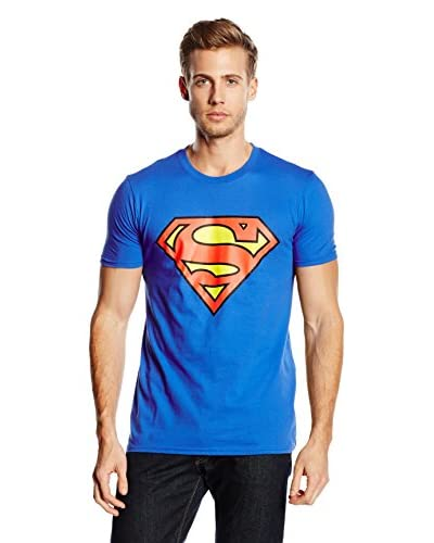 DC COMICS T-Shirt Manica Corta Superman Logo [Blu Royal]
